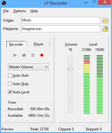 Click to view LP Recorder 10.1.1 screenshot
